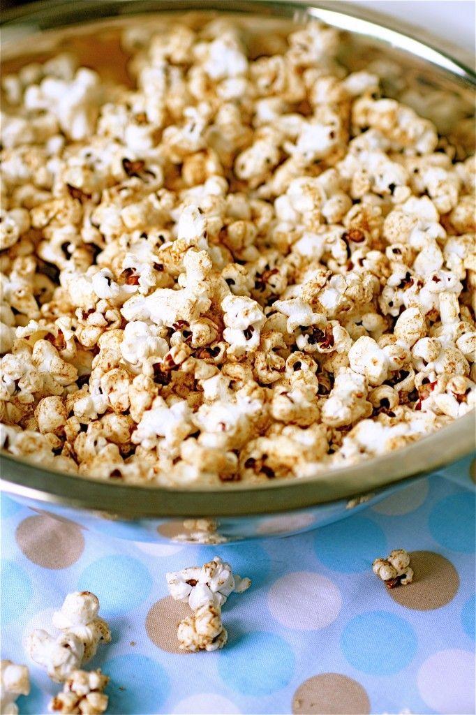 Popcorn with coconut oil (cinnamon, ginger, nutmeg, allspice & sea salt) Yum!