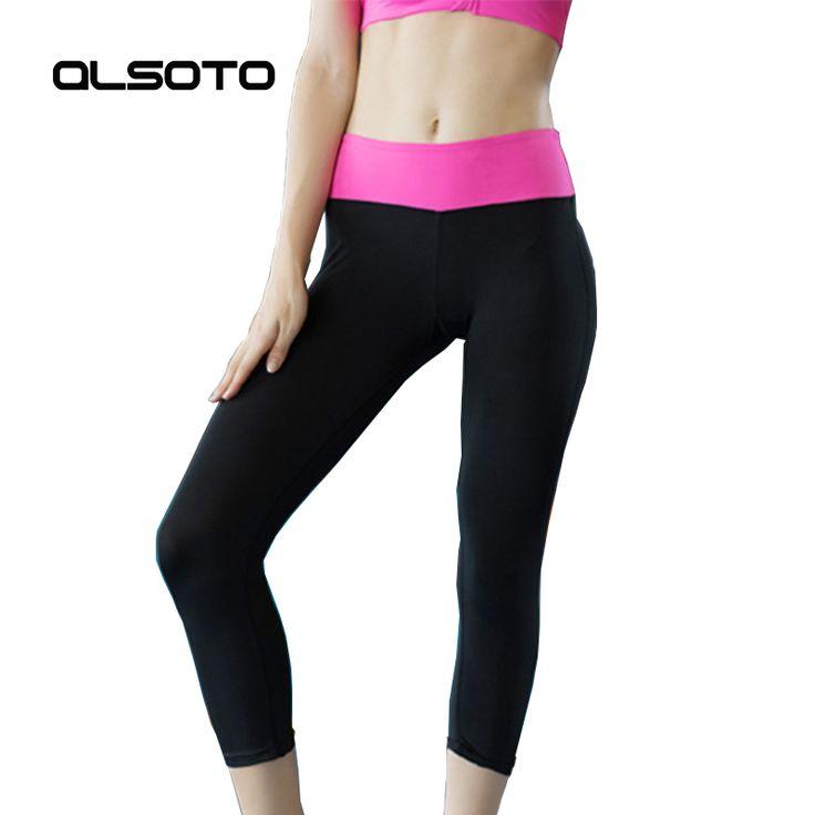 New Women sports yoga shorts Tight Running Quick-drying training Gym Solid color Elasticity Joggers slim Capri sportswear