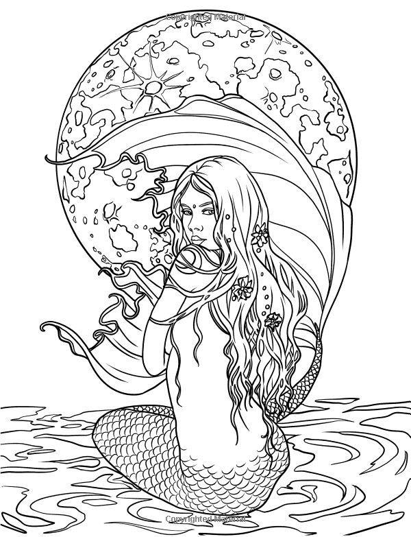 25 best Mermaid Adult Coloring