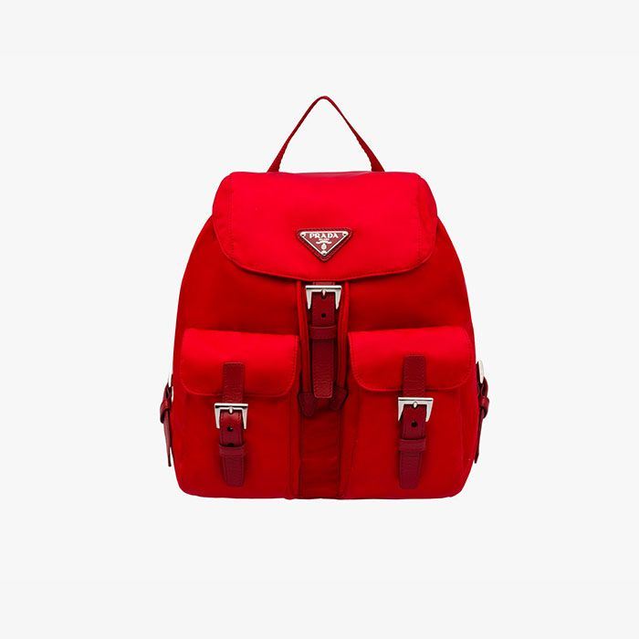862b282db1f5 Prada BZ6677 Nylon Backpack In Red   Prada bags outlet   Prada ...