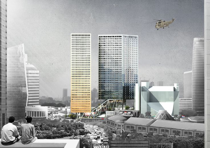 SSI Towers Competition Entry. OMA (2013)