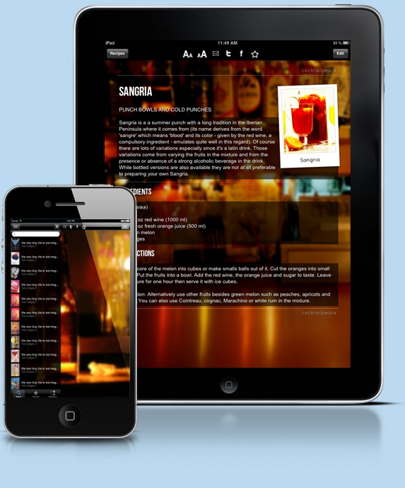 CocktailPedia - Pick Your Drink! On iPhone, iPad, Windows 8!