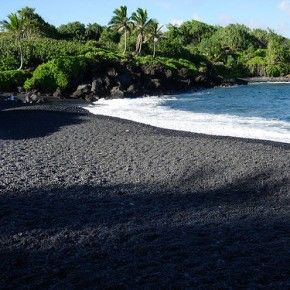 I am amazed by the black sand that can be found at Punalu Beach in Bali. Nature can create amazing and very unusual things!