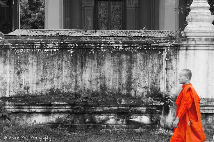 Monk in Vientiane by Andre Paul Photography