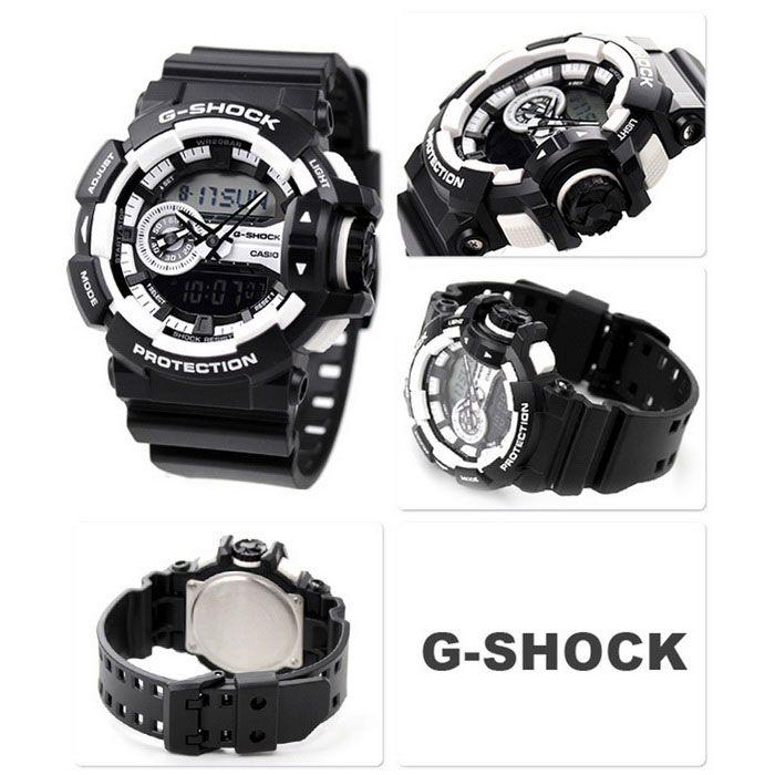 Casio G-Shock GA-400-1AER Men's Digital Watch-Black + White