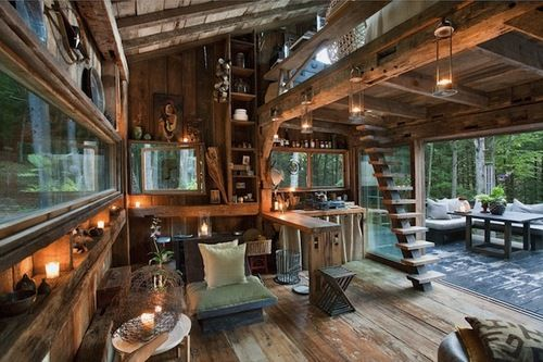 Unplugged by Scott Newkirk - A one-room cabin in the woods pulls the cord on modern living in New York.