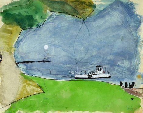 Piotr Potworowski, White ship / Biały statek on ArtStack #piotr-potworowski #art