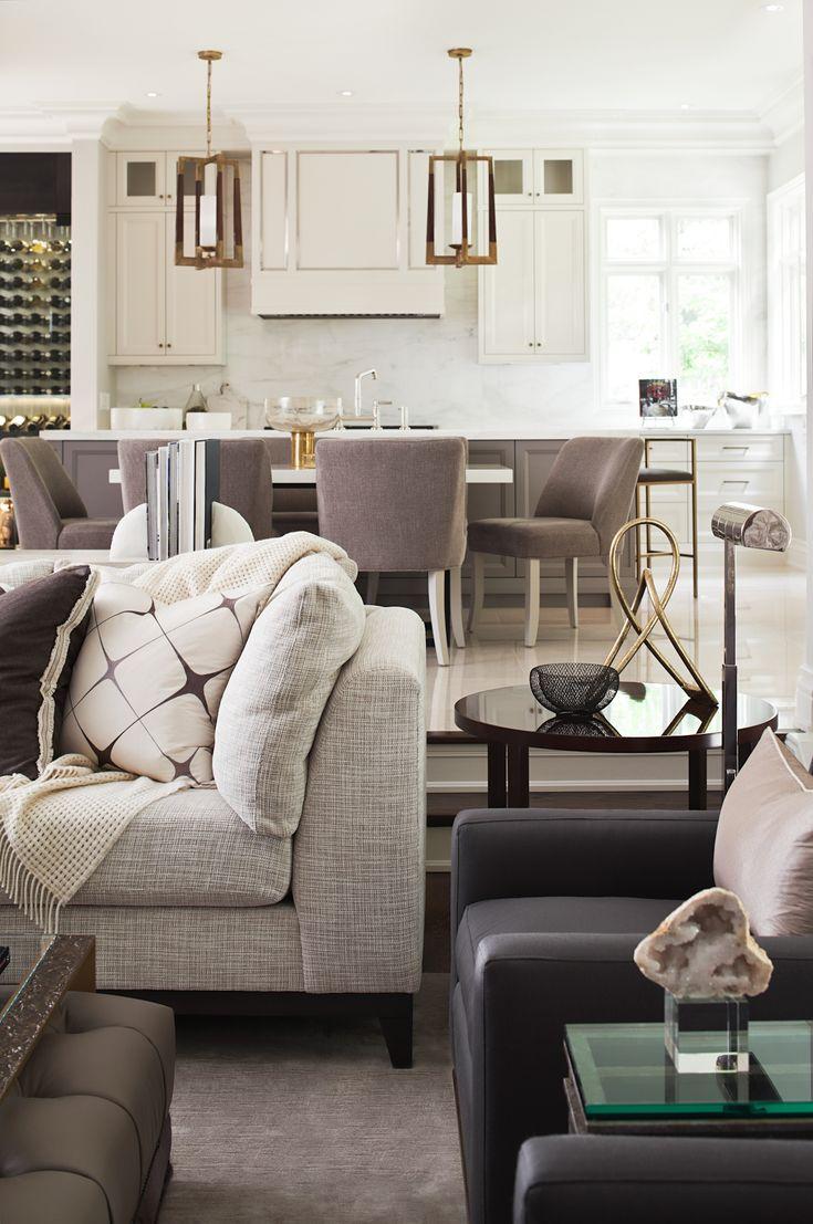 Great room kitchen designed by elizabeth metcalfe for Interior design house oakville