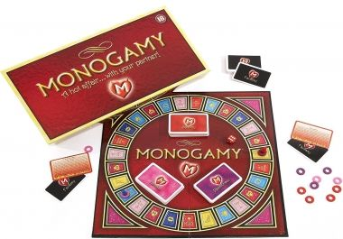 This is Monogamy the board game for adults and couples. Monogamy is a game that has over 400 different seductively seducing ideas and up to 3 different, intimate and passionate levels of play that will make you want to keep playing!<br /><br /> With