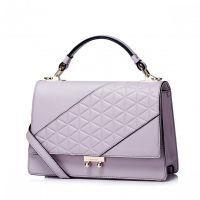 Elegancka i stylowa damska torebka na ramię Purpurowa