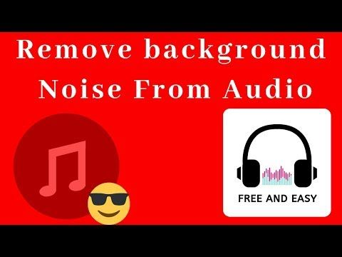Remove background noise from audio (Free and Easy) - YouTube