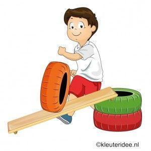 Gymles met banden en planken 2 voor kleuters , juf Petra, voor meer kleutergymlessen ga naar de site kleuteridee.