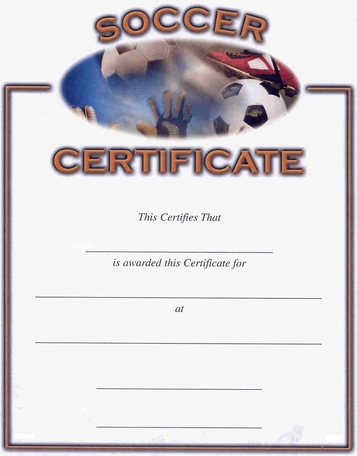 football certificate templates