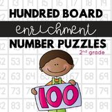 Hundred Board Number Puzzles: Math Enrichment Activities for second grade