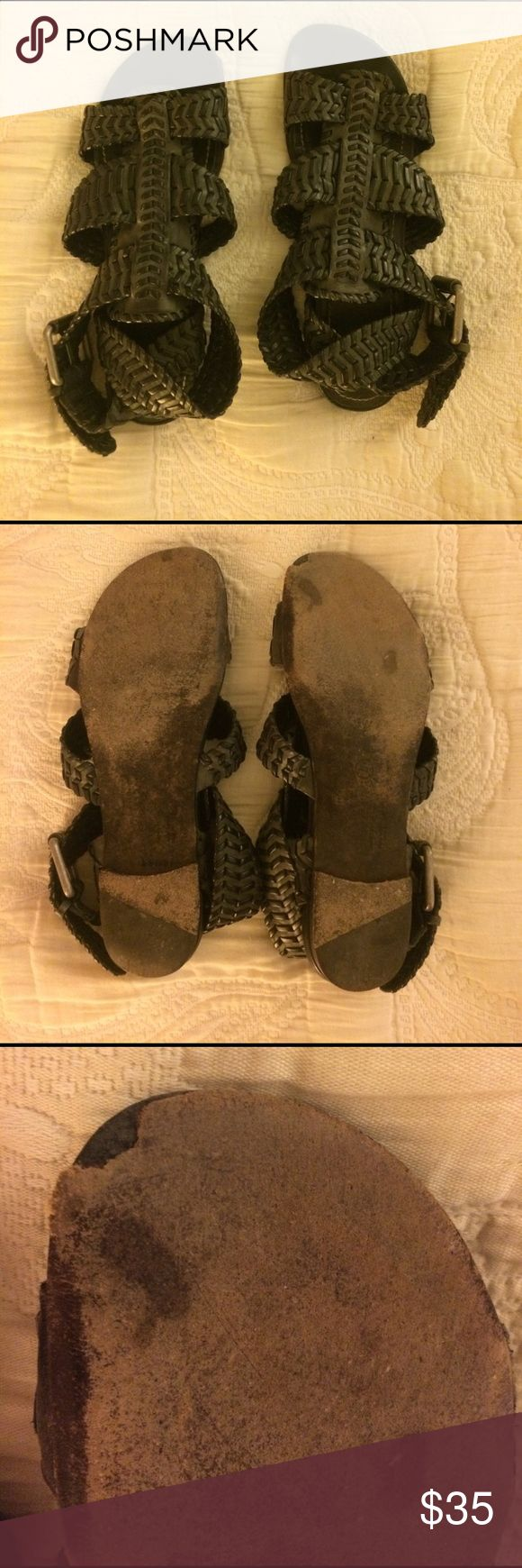 Selling this All Saints Gladiator Sandals Size 38 or 8 women's on Poshmark! My username is: amyseidner. #shopmycloset #poshmark #fashion #shopping #style #forsale #All Saints #Shoes