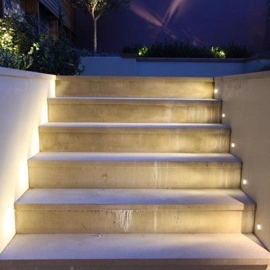 fully recessed lighting for patio terrace and deck | Lucca External LED uplight | John Cullen Lighting | LED uplight