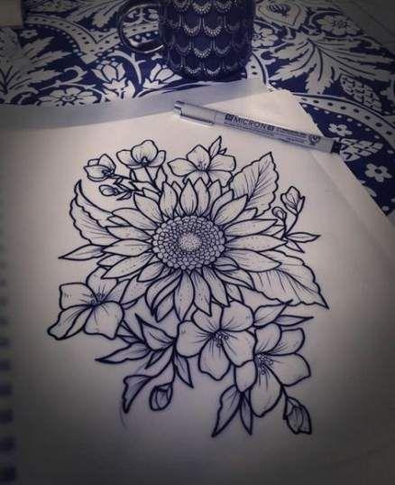61 Ideas Tattoo Sunflower Collar Bone Flower For 2019