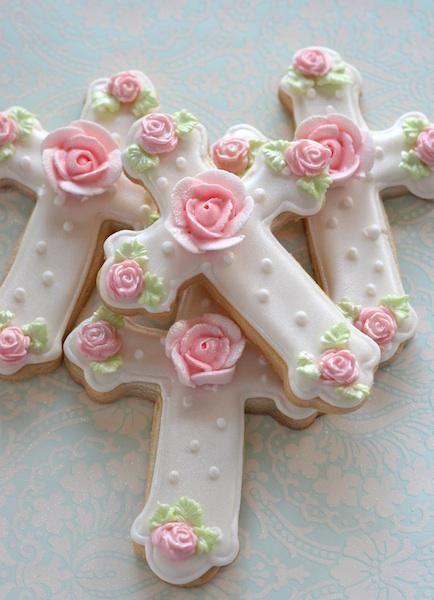Baptism Cross Cookies