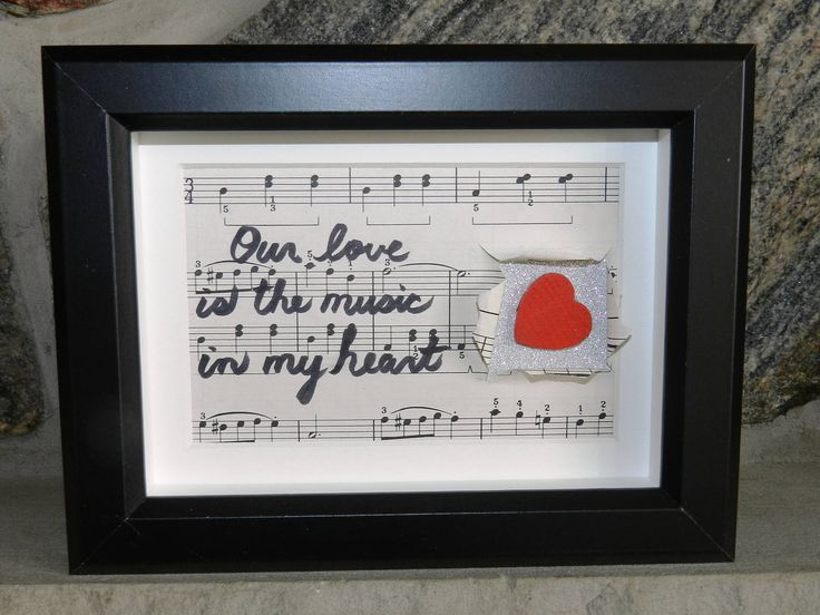 Love gift for boyfriend, Love gifts for girlfriend, Love framed sign, Love quotes for girlfriend, Music gift for girlfriend, Framed love by StudioSmiley on Etsy