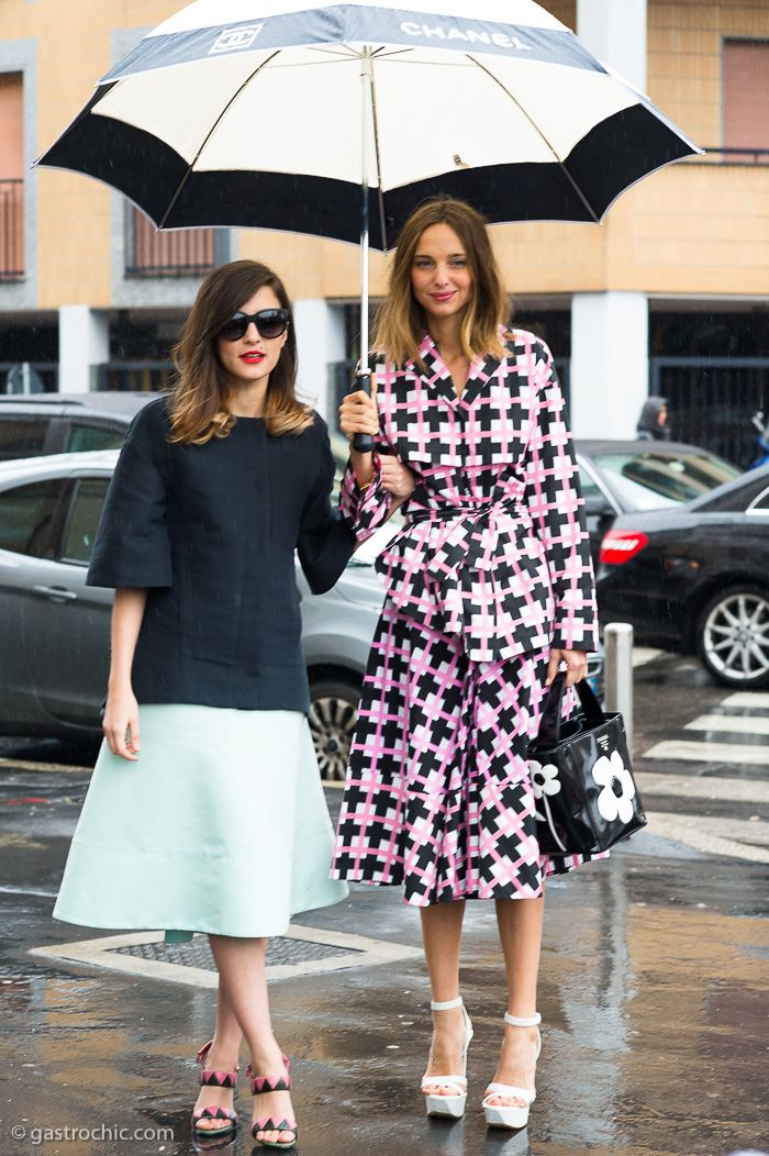 Two Rainy Day Looks, Outside Marni #streetstyle #fashion ...