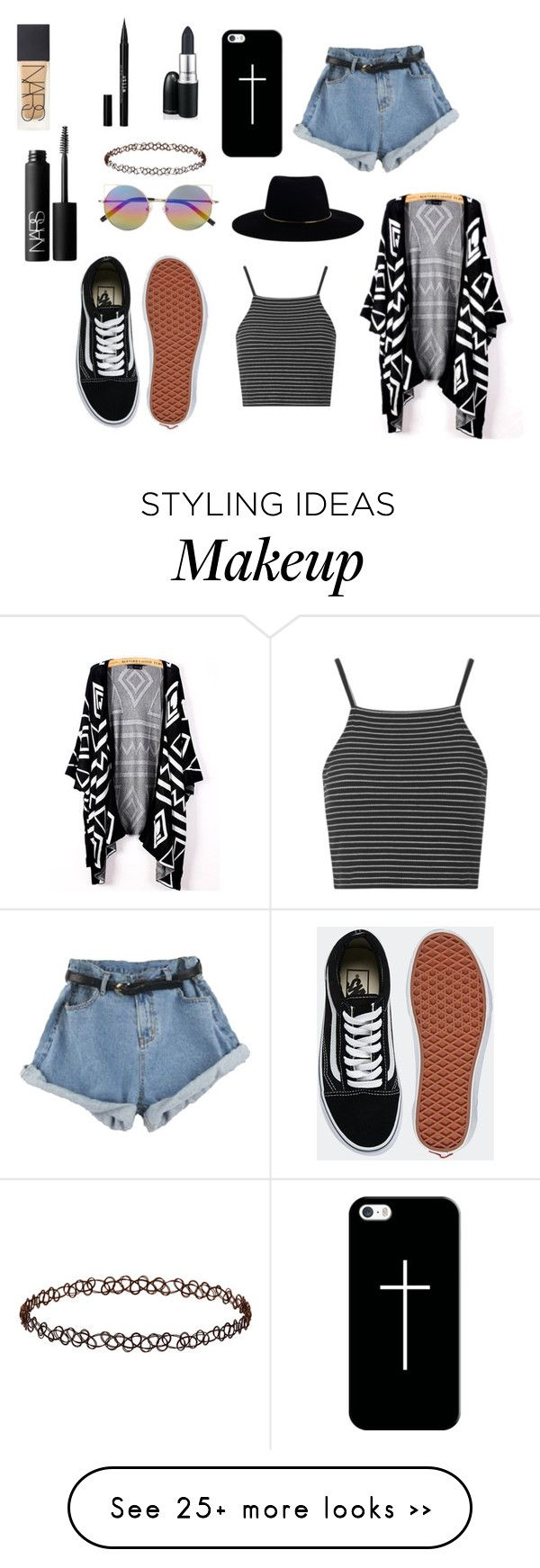 """summer"" by charlfprotet on Polyvore featuring Topshop, Zimmermann, Vans, Linda Farrow, Casetify, NARS Cosmetics and Stila"