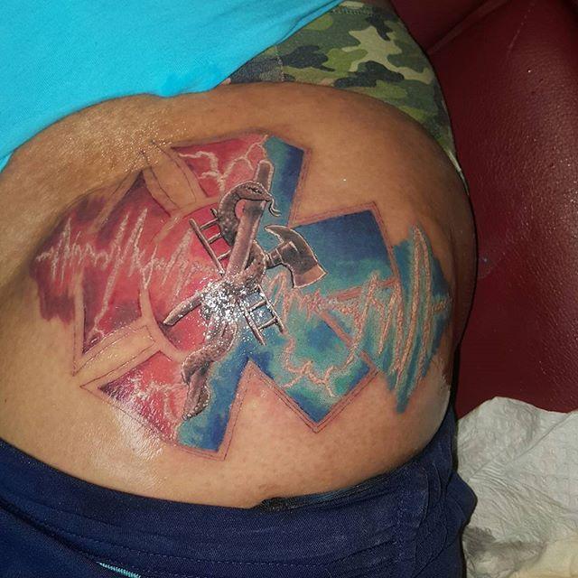 Fun progress on this half #firefighter #paramedic #heartbeat themed tattoo, my own twist on the snake .#juniorthetattooist #blackandgrey #blackandgreytattoo #bnginksociety #realistictattoo #realism #realismtattoo #inkedgirl #tattooedgirls #inkedgirls #salinasca #sanjose #santacruz #monterey #csumb #marina #seaside #montereybay #inkedup #tattoos #tattoolife #tattoo #colorrealism #colortattoo #inked #tattoomagazine #tattoolife #montereylocals - posted by Ayalainks…