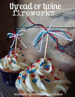 shaken together: {create this} 5 five-minute patriotic cupcake toppers