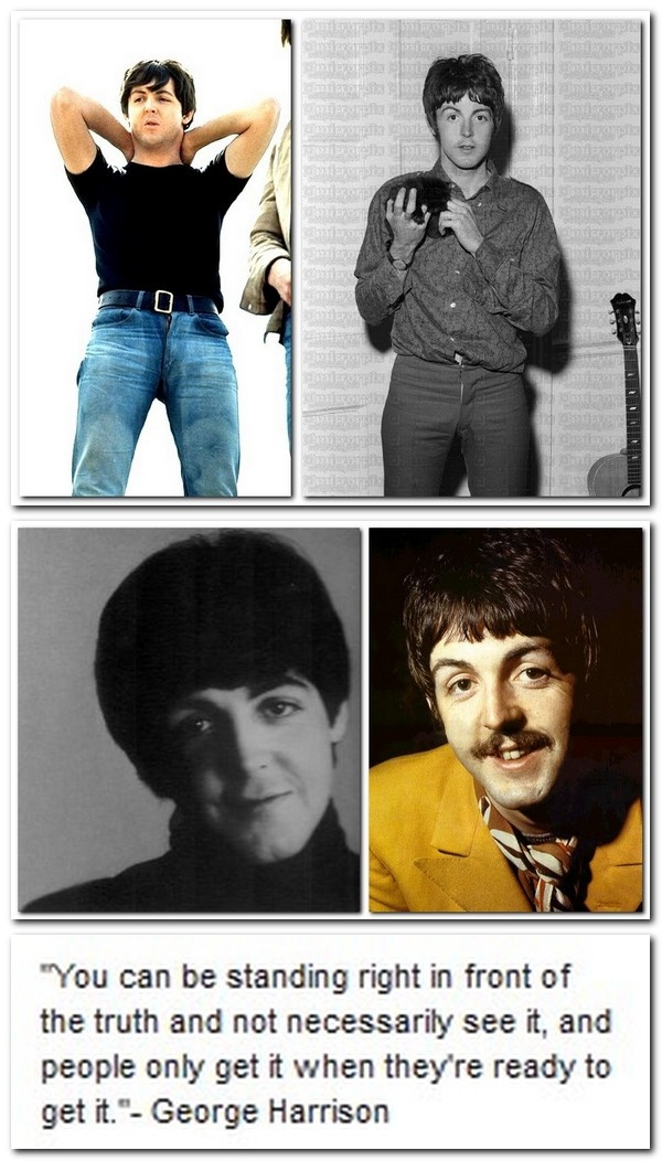 What did George mean -- what exactly WAS he talking about? Could it possibly be....?  Tavistock Institute's Faul McCartney/ Faux Paul.
