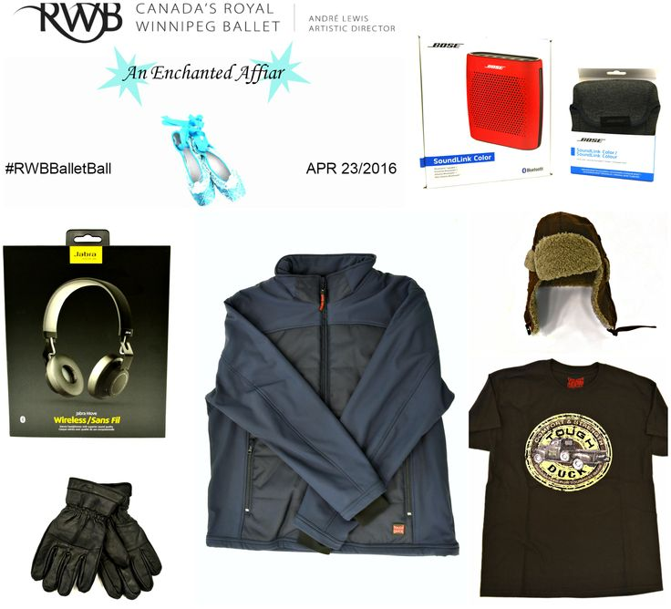 Enter to win this great prize package ft a Bose Soundlink Colour Bluetooth speaker and carrying case, Jabara Move Wireless Headphones, and Tough Duck Clothing at this years Ballet Ball #RWBBalletBall