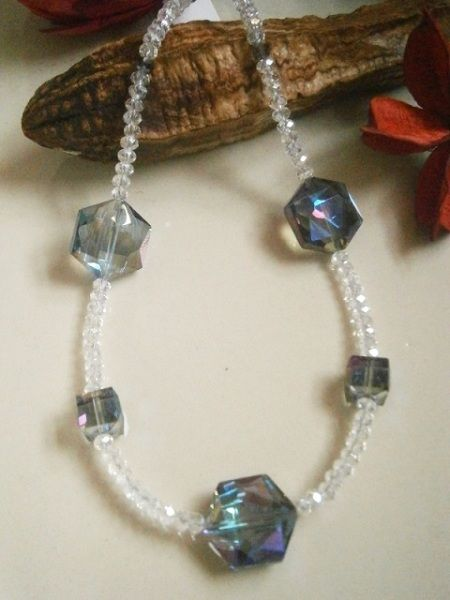 "20"" CRYSTAL NECKLACE FEATURING MULTI-COLOURED HEXAGON SHAPED  BEADS  £ 10.00 http://creative-connections.ning.com/photo/crystal-necklace-featuring-multi-coloured-hexagon-shaped-beads?context=album&albumId=3872179%3AAlbum%3A361057#.Uou5DTtFDrc"