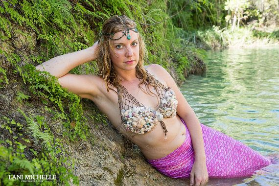 Mermaid Shell Bra by CorabellesCove on Etsy