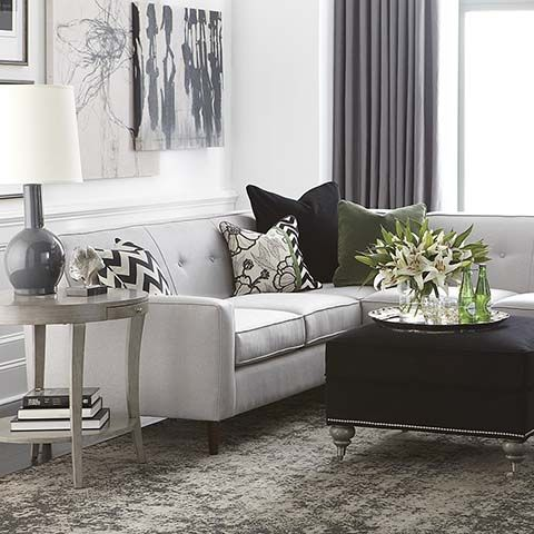 skylar l shaped sectional by bassett furniture living