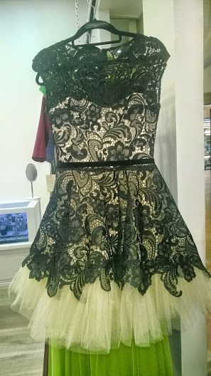 Nude/black lace dress GO by Gabriella Olar