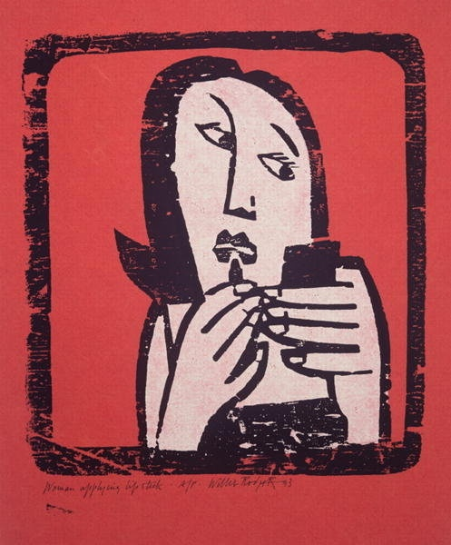 Willie Rodger linocut