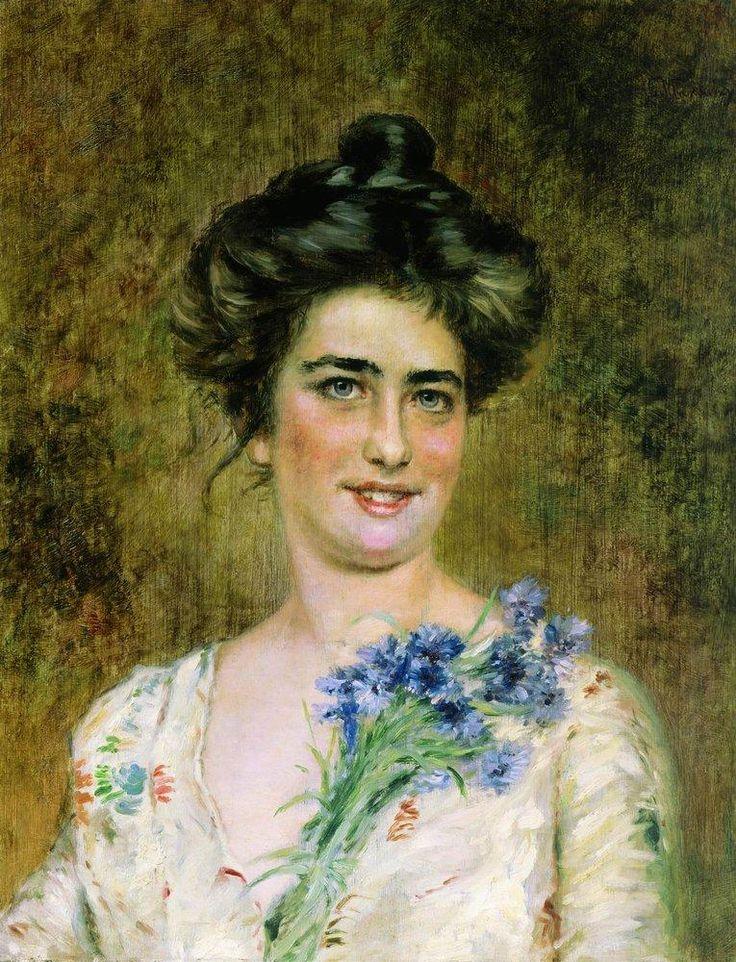 .Julia Makovska ( Letkova ) 1859- 1954 second wife of artist Konstantin Makovski 1839-1915