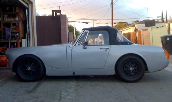 MG Midget. -murdered out