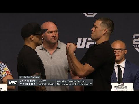 Mma Ufc 25th Anniversary Fall Press Conference Faceoffs With