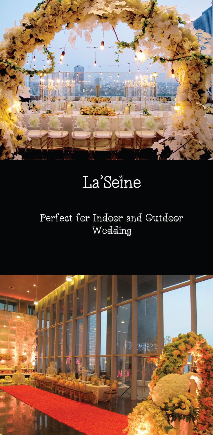 Find lovely, affordable and unique outdoor ceremony and reception locations in Kuningan area. la'SEINE Function Hall is a perfect wedding venue in Indonesia with its sleek interior and large framed windows that overlook the Kuningan area. For those who want to enjoy the cool breeze, la'SEINE has an alfresco area ideal for a romantic solemnisation and a terrace that is great for cocktail reception.