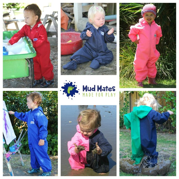 Mud Mates Coveralls slip on over your child's clothing to protect them - perfect for muddy fun!  Just slip them off when they're finished and they're clean and dry underneath. Saves you time, and washing! For more info please visit www.mudmates.co.nz
