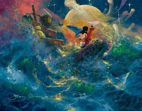 MickeyJames Of Arci, Sorcerer Symphony, Walt Disney, Mickey Mouse, James Coleman, Jamescoleman, Disney Art, Fans Art, Sorcerer Apprent