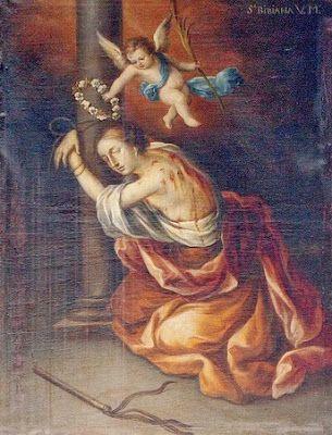 El Santo del Dia: 2 DE DICIEMBRE SANTA BIBIANA O VIVIANA DE ROMA MÁRTIR