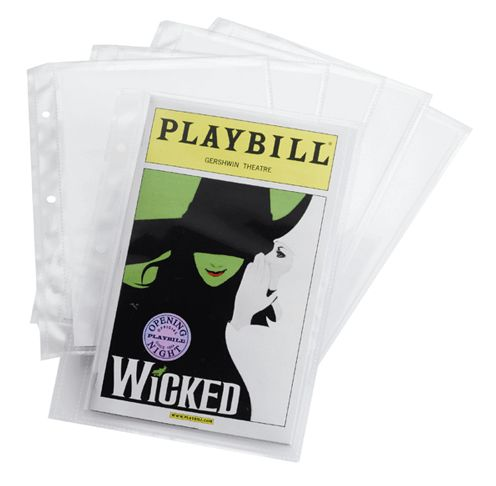 "A pack of 6 archival-quality polypropylene sleeves with acid-free backing boards for use in the Ultimate Playbill Binder only. Fits contemporary-sized Playbills measuring 5 3/8"" by 8 1/2"". Please note, these sleeves will not attach to the Basic..."