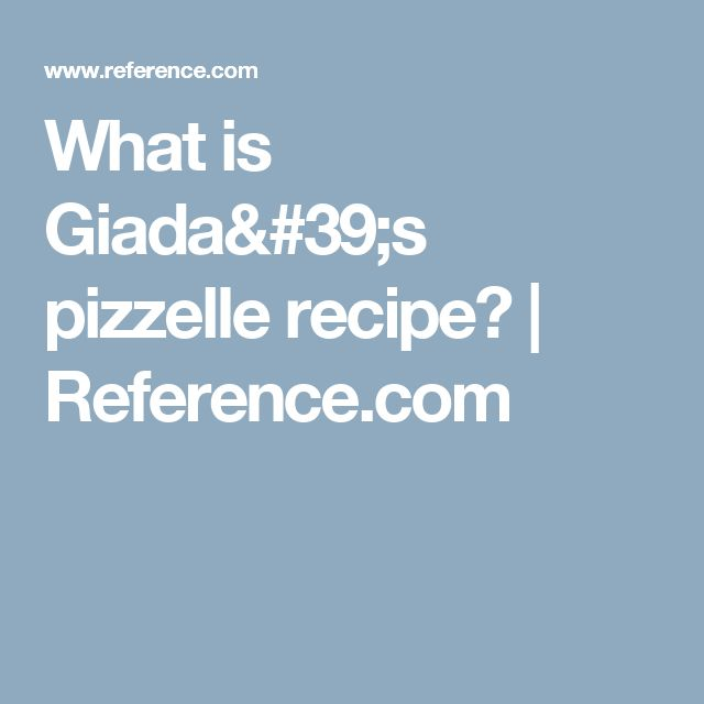 What is Giada's pizzelle recipe? | Reference.com