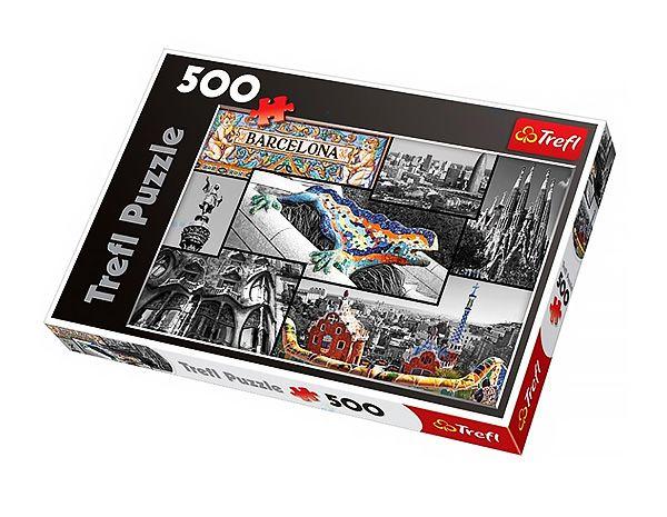 Puzzle od firmy Trefl – kolaż Barcelona, 500 elementów  #puzzle #supermisiopl