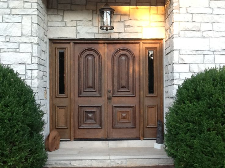 Customer Tim Stevenson shows off this gorgeous pair of exterior doors purchased from Southern Accents Architectural Antiques - www.sa1969.com