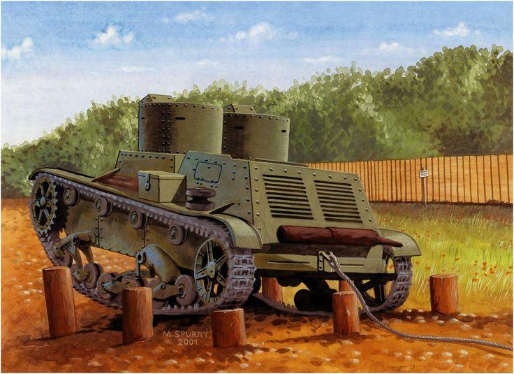 7TP – polski czołg lekki. Rys. M.Spurný.