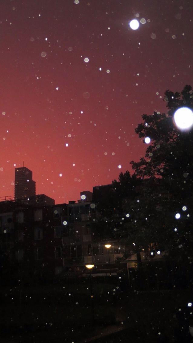 Rode roze lucht