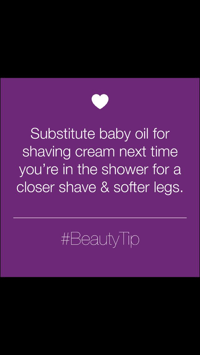 Shaving beauty tip Heard this a lot. Maybe it works???