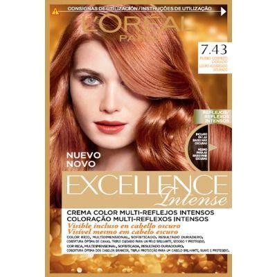 excellence tinte capilar intense nº 7,43 rubio cobrizo dorado