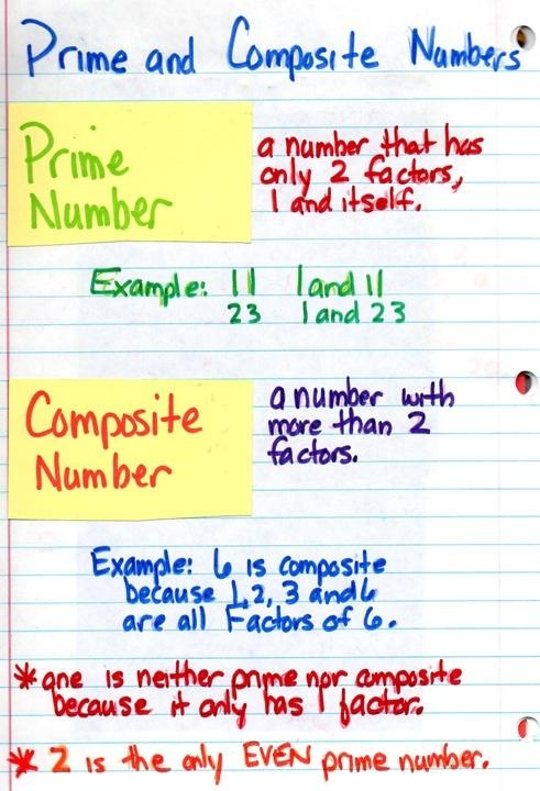 Prime and composite numbers homework help